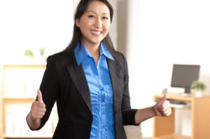 Energetic Asian professional woman